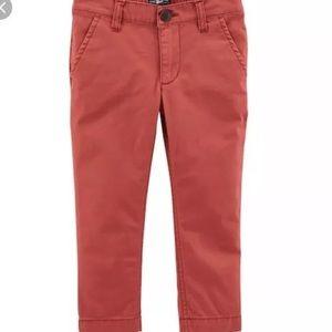 2/$30 OshKosh Boys Size 5 Red Chino Slim Fit Pants